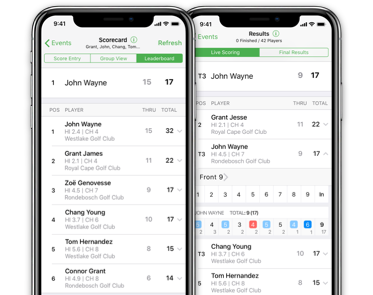 The HNA Handicaps & Tournament App