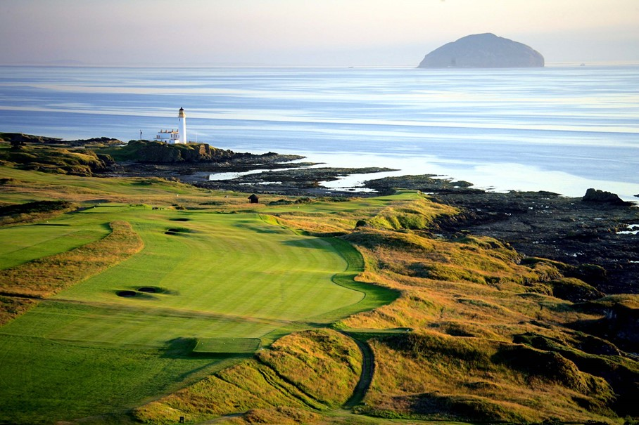awesome shot of ailsa course turnberry